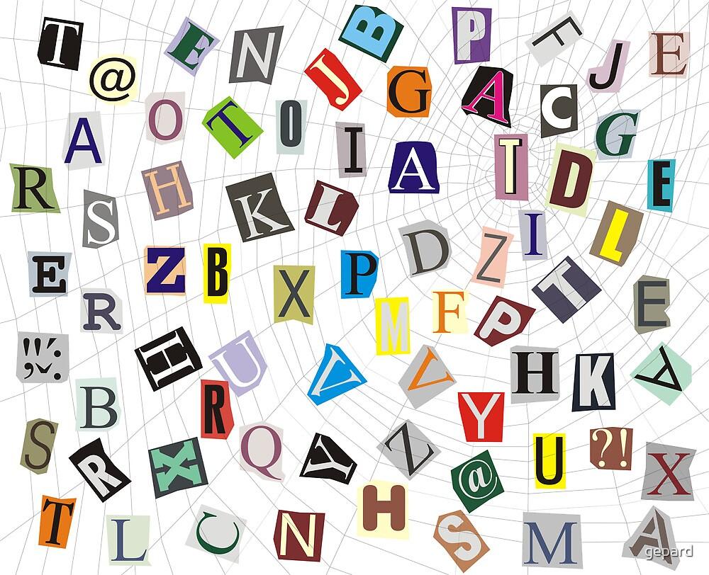 Alphabet on a web by gepard