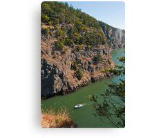 Motoring through Canoe Pass Canvas Print