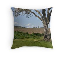 Prairie Tree Framing a Farmhouse Throw Pillow