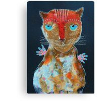 Cat With Green Blue Eyes Canvas Print