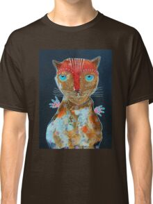 Cat With Green Blue Eyes Classic T-Shirt