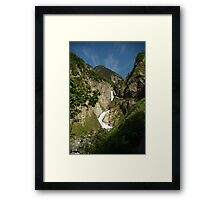 From high in the mountains Framed Print