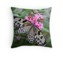 Paper Kite Butterfly Throw Pillow