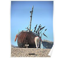 Hastings Fishing Boats ( 9 ) - The Stern of the Mona Lisa Poster