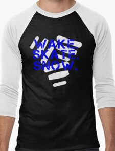 Wake. Skate. Snow. 3 Men's Baseball ¾ T-Shirt