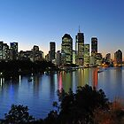 Brisbane City & River At Dusk. Queensland, Australia  by Ralph de Zilva