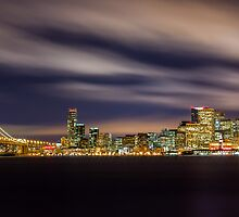 Purple Fluff - San Francisco Skyline by Toby Harriman