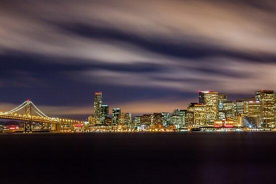 Purple Fluff - San Francisco Skyline by Toby Harriman