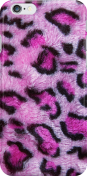 Pink Leopard Spots (Iphone case) by Maria Dryfhout