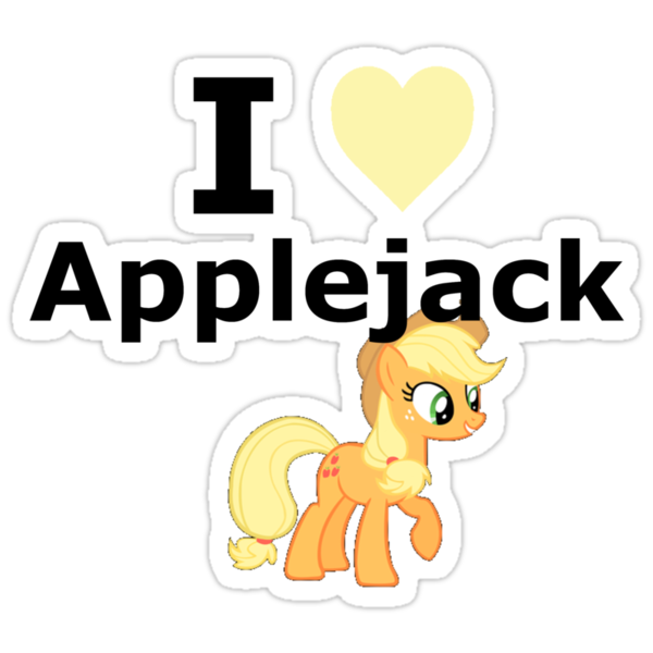 I Heart Applejack by mikeAguy1