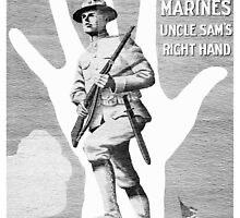 US Marines -- Uncle Sam's Right Hand by warishellstore