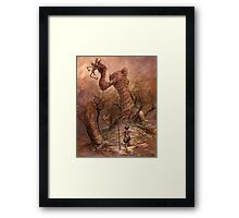 The Angry Hill  Framed Print