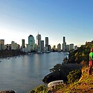 Brisbane City & River In The Late Afternoon. Queensland, Australia by Ralph de Zilva