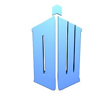 Doctor Who Logo (Custom) Blue Box Tardis by Smithicus Media