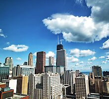 Sunny day Chicago skyline by ieatstars