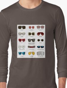 famous movie glasses Long Sleeve T-Shirt