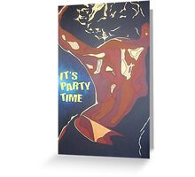 Party Time Woman Dancing In A Night Club Greeting Card