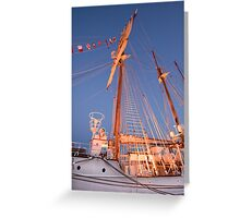 JS DE ELCANO . Spanish Tall Ship. Lisbon Greeting Card