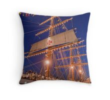 """Sagres"" Tall Ship. Throw Pillow"