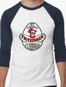 Chicken Man! Men's Baseball ¾ T-Shirt