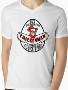 Chicken Man! Mens V-Neck T-Shirt