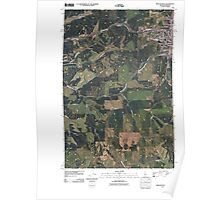USGS Topo Map Indiana ID Moscow West 20110406 TM Poster