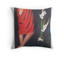 The Red String Throw Pillow