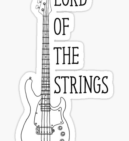 Lord Of The Strings Electric Guitar T Shirt Sticker