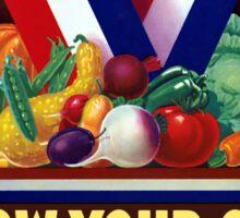 Victory Garden -- Grow Your Own Sticker