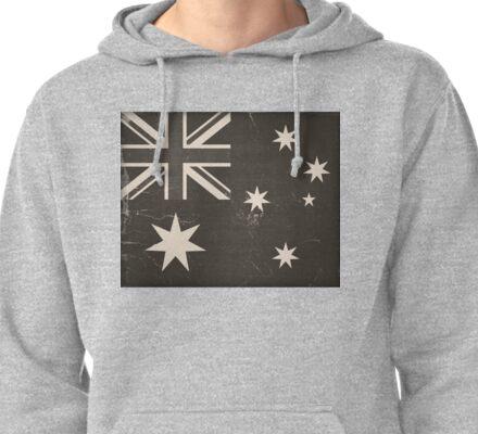 Old Australia Flag Pullover Hoodie