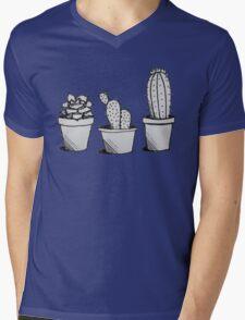 Cacti Trio Mens V-Neck T-Shirt