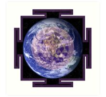 Peace On Earth Yantra Art Print