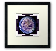 Peace On Earth Yantra Framed Print