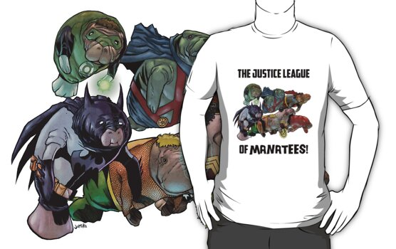 Justice League of Manatees SALE! by jomiha