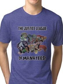 Justice League of Manatees SALE! Tri-blend T-Shirt