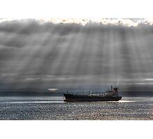 Sun Rays over Elliott Bay Photographic Print