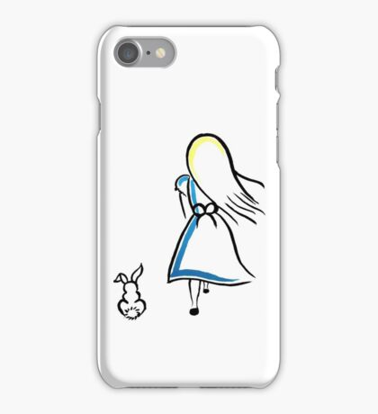 Alice and the White Rabbit iPhone Case/Skin