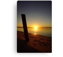 Great Ocean Sunset Canvas Print