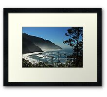 Misty Coast at Heceta Head Framed Print