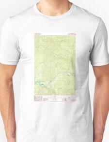 USGS Topo Map Washington State WA Cyclone Creek 240766 1986 24000 Unisex T-Shirt