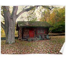 Little Log Cabin Behind Ringwood Manor Poster