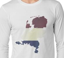 Vintage Netherlands Flag and Map Long Sleeve T-Shirt
