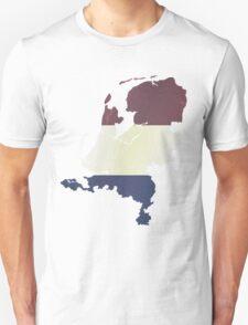 Vintage Netherlands Flag and Map Unisex T-Shirt