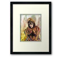Robot Mother Warrior Framed Print