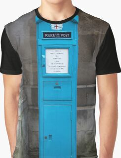 City Of London Blue Police public call  box Graphic T-Shirt