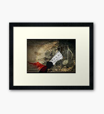 cranium full of musique Framed Print