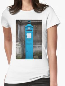 City Of London Blue Police public call  box Womens Fitted T-Shirt