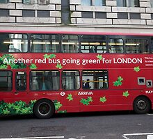 Eco Green London Bus by Keith Larby
