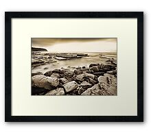 Looking Beyond ~ Sepia Framed Print