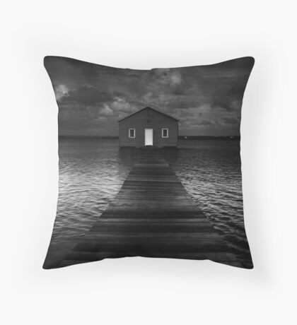 The Old Boat Shed Throw Pillow